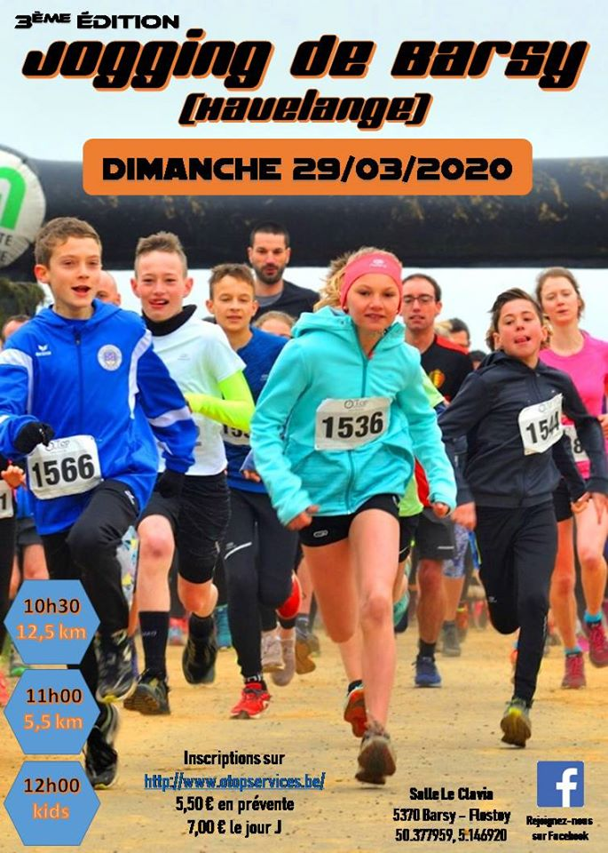 Jogging de Barsy ***ANNULÉ*** 2020-03-29