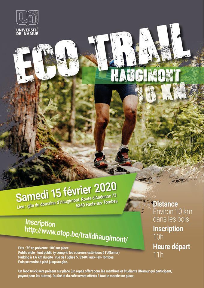 Eco Run Trail Haugimont (UNamur) 2020-02-15