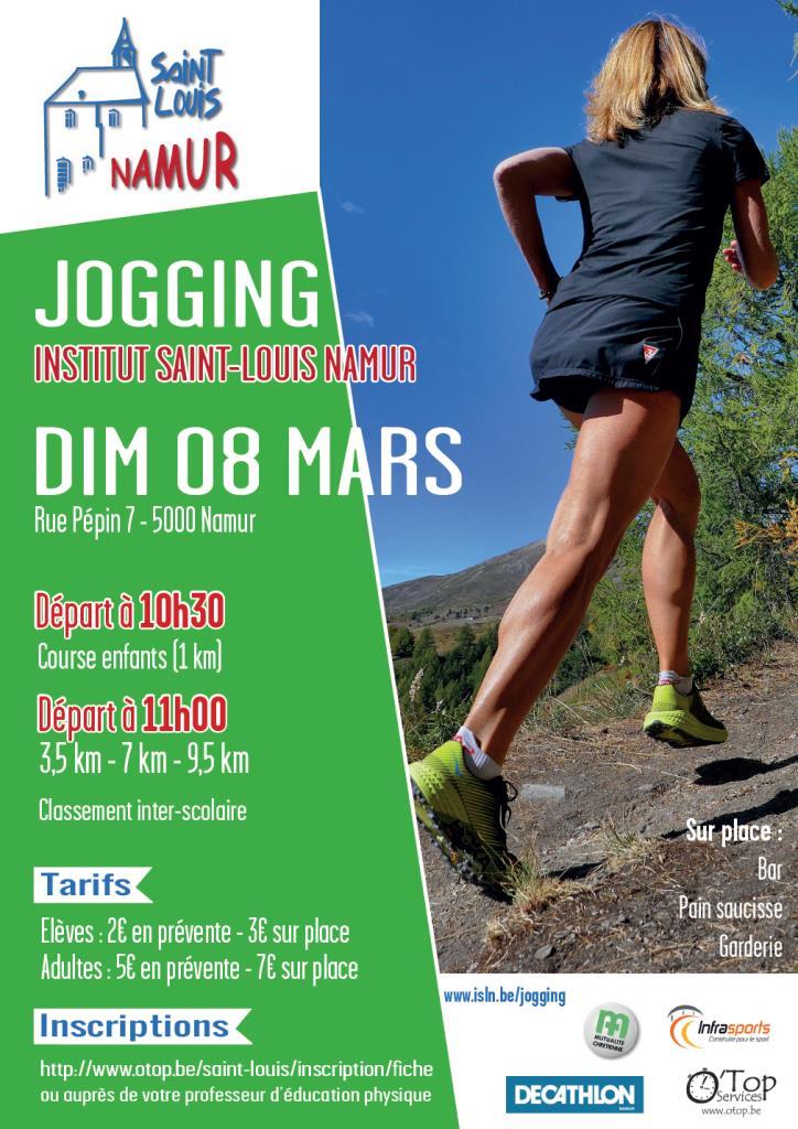 Jogging de l'Institut Saint-Louis Namur 2020-03-08