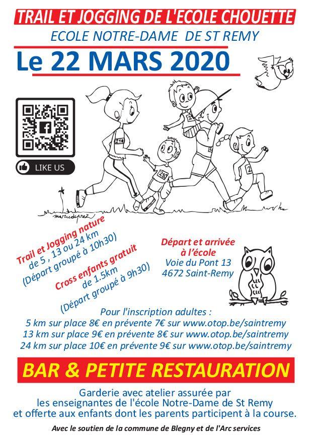 Trail et Jogging de la Petite Ecole Chouette 2020-03-22